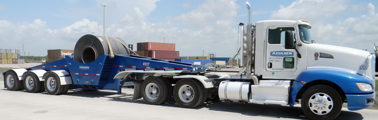 ADAM INDUSTRIES COIL TRAILER SEMI TRUCK