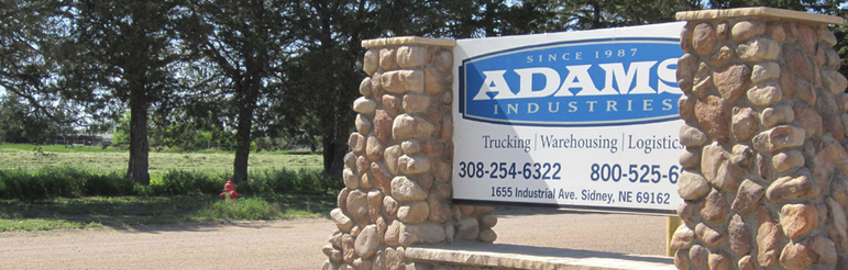 Adams Industries Company Outside Sign